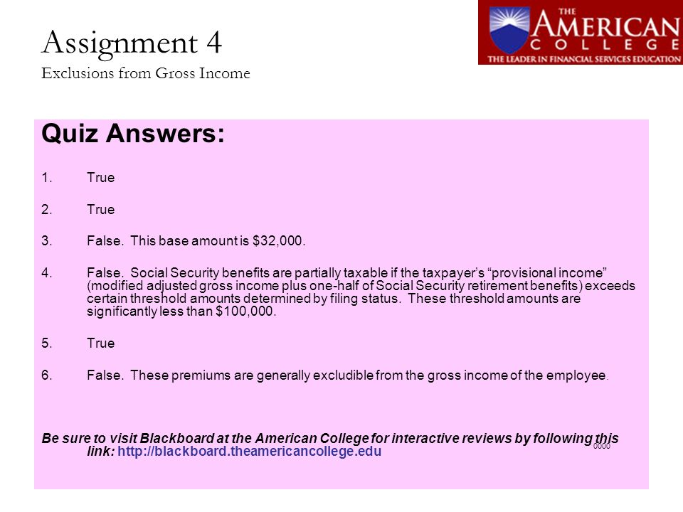 Assignment 9 Sales and Exchanges of Property Quiz Answers: 1.False.