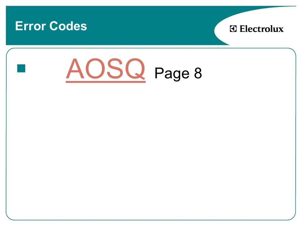 Error Codes AOSQ Page 8AOSQ