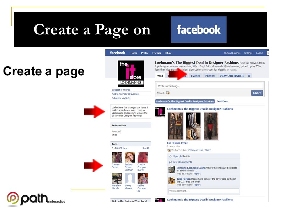 Create a Page on Create a page