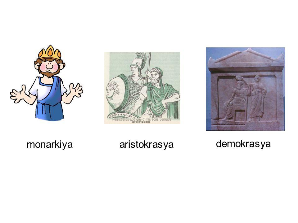 monarkiyaaristokrasya demokrasya