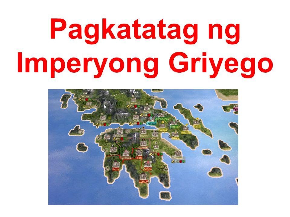 Pagkatatag ng Imperyong Griyego