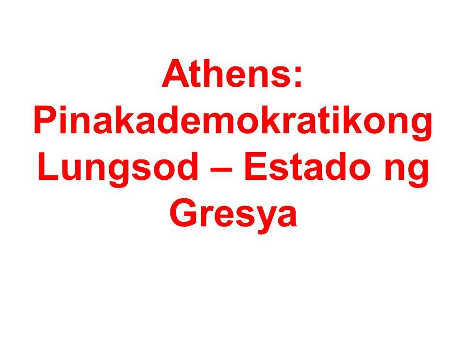 Athens: Pinakademokratikong Lungsod – Estado ng Gresya