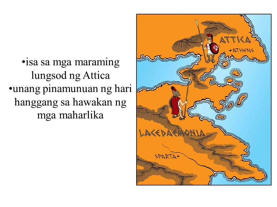 isa sa mga maraming lungsod ng Attica unang pinamunuan ng hari hanggang sa hawakan ng mga maharlika