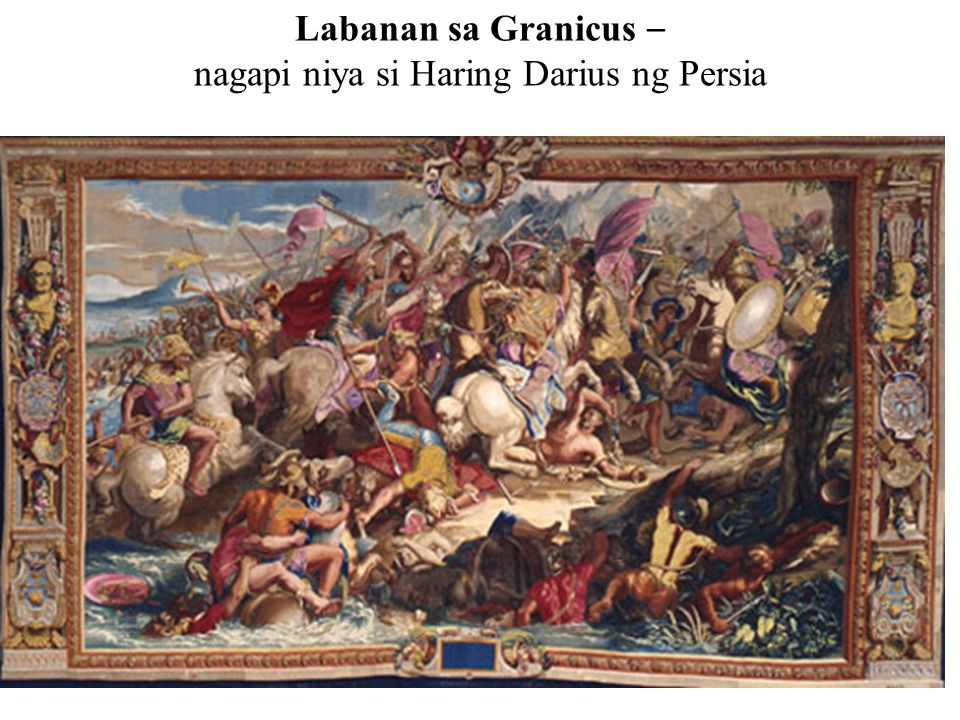 Labanan sa Granicus – nagapi niya si Haring Darius ng Persia