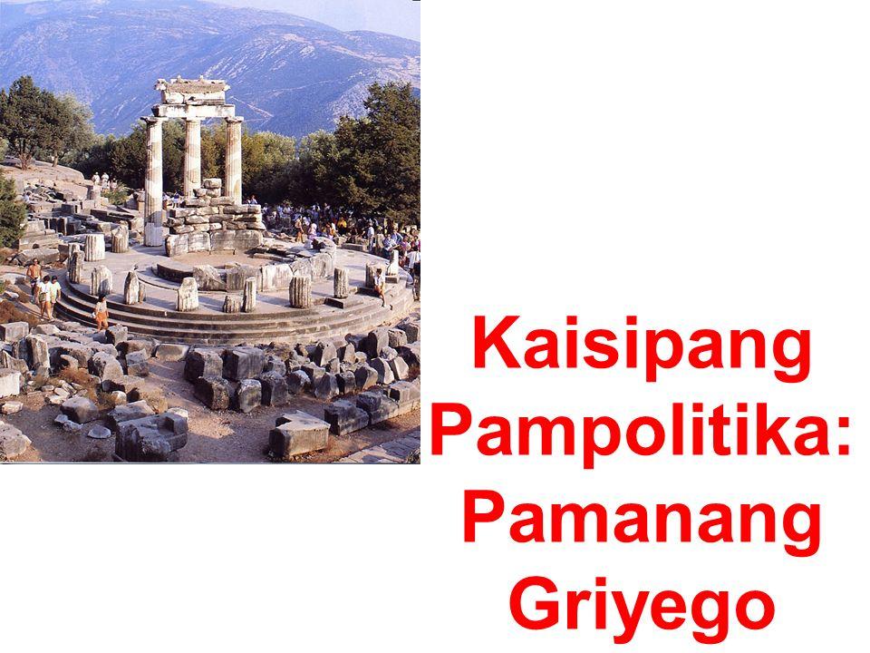 Kaisipang Pampolitika: Pamanang Griyego