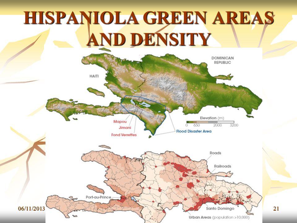 HISPANIOLA GREEN AREAS AND DENSITY 06/11/201321