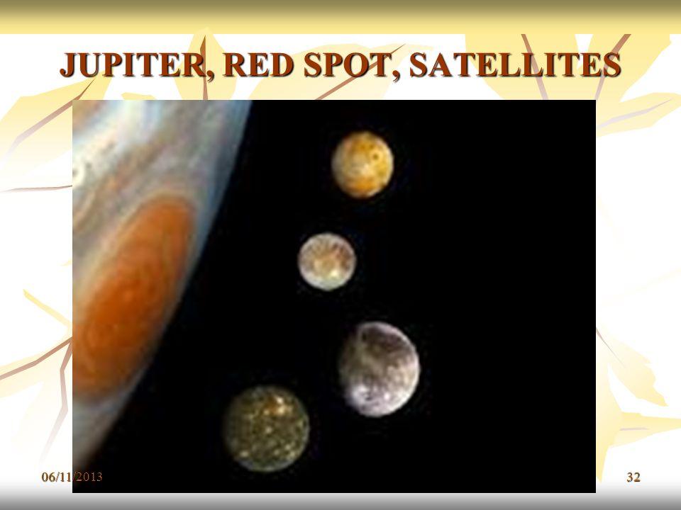 JUPITER, RED SPOT, SATELLITES 06/11/201332