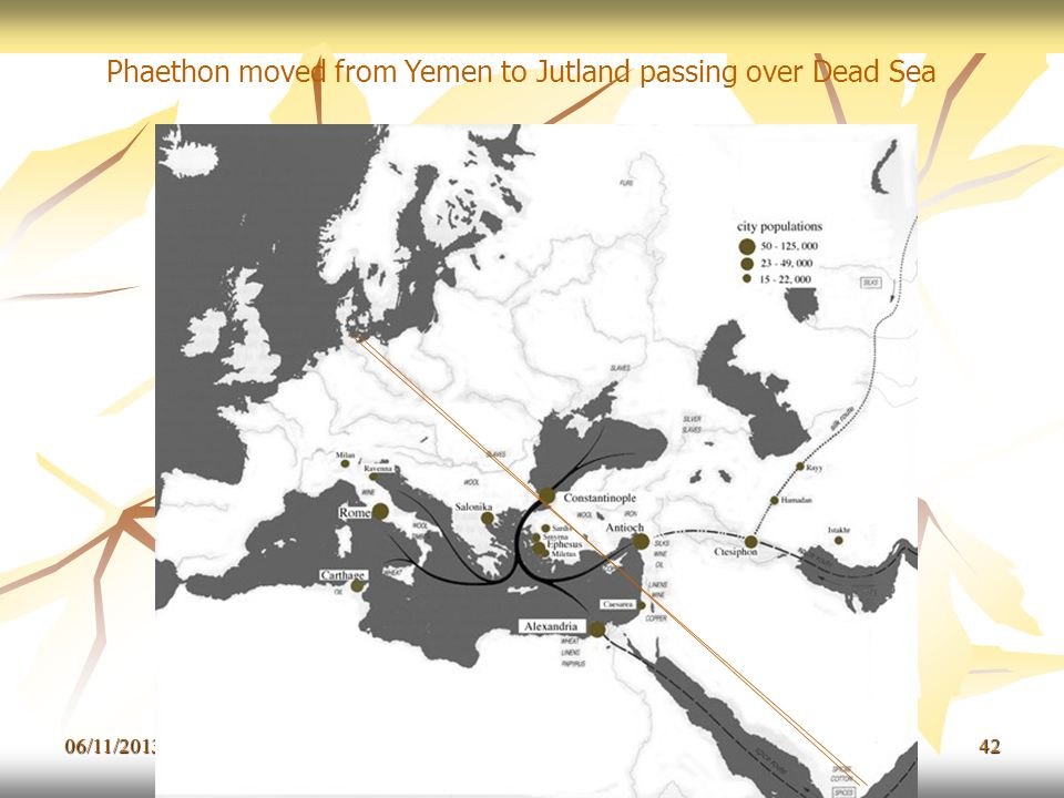06/11/201342 Phaethon moved from Yemen to Jutland passing over Dead Sea