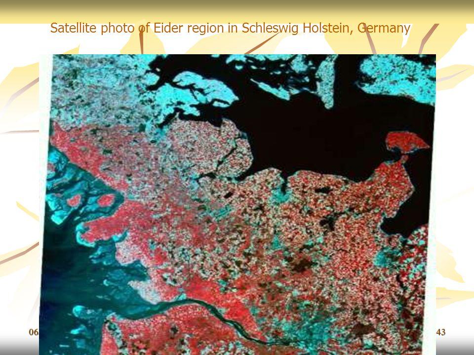 06/11/201343 Satellite photo of Eider region in Schleswig Holstein, Germany