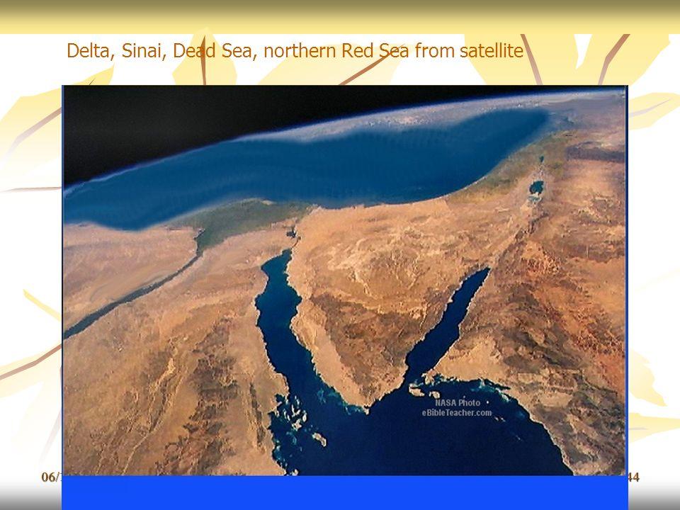 06/11/201344 Delta, Sinai, Dead Sea, northern Red Sea from satellite