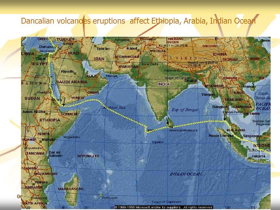 06/11/201347 Dancalian volcanoes eruptions affect Ethiopia, Arabia, Indian Ocean