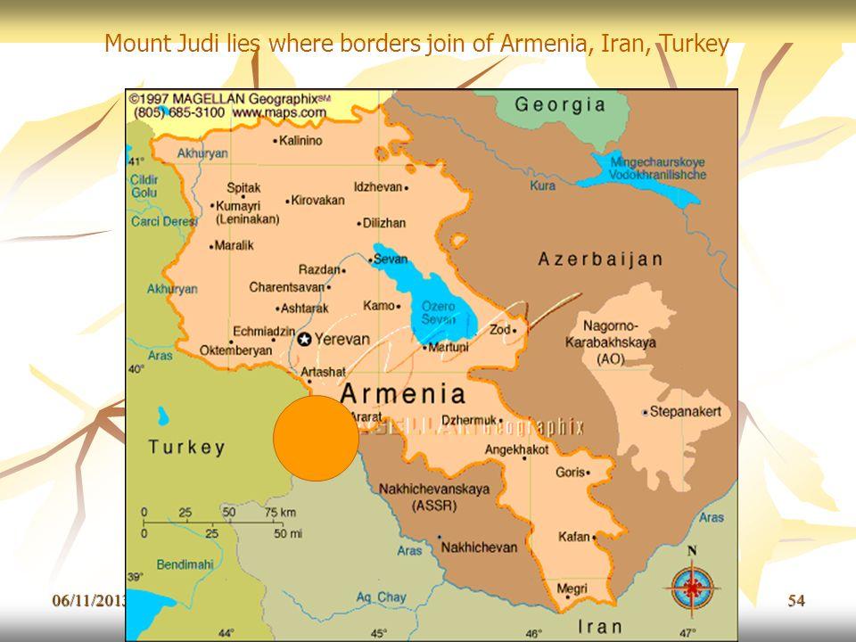 06/11/201354 Mount Judi lies where borders join of Armenia, Iran, Turkey