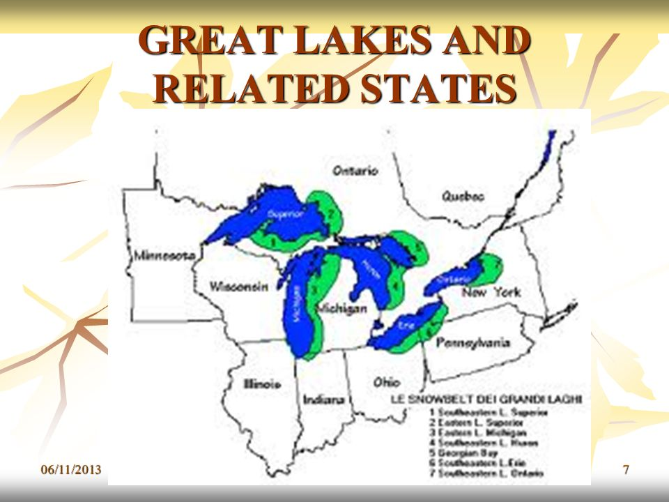 GREAT LAKES AND RELATED STATES 06/11/20137