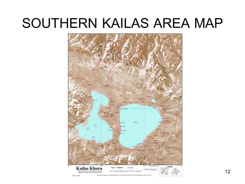 12 SOUTHERN KAILAS AREA MAP