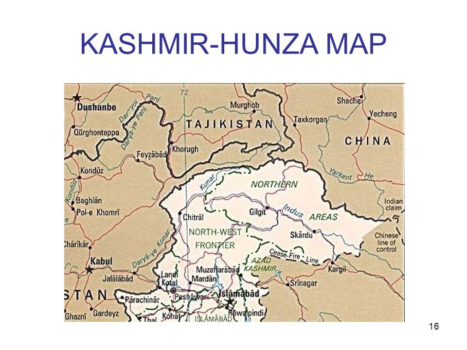 16 KASHMIR-HUNZA MAP