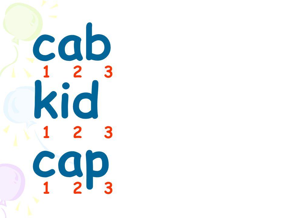 cab kid cap 1 2 3