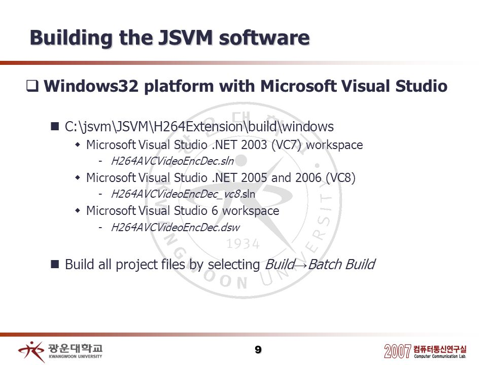 10 Building the JSVM software Result The versions with a d before the dot Debug mode Without a d before the dot Release mode