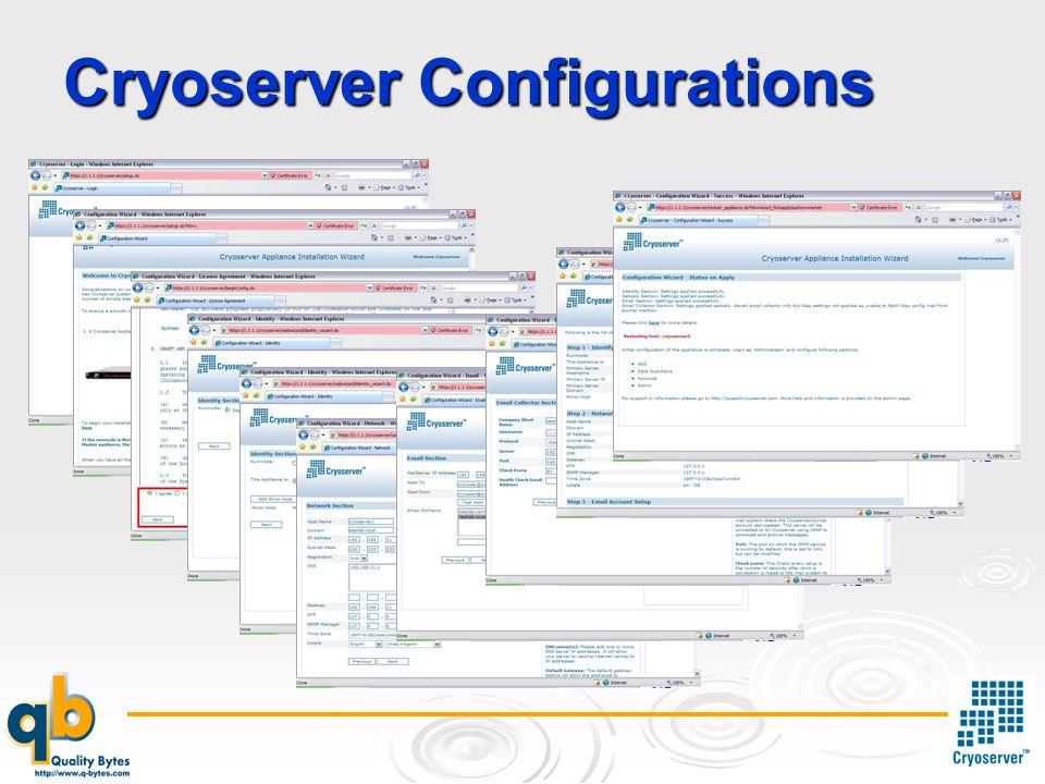 Cryoserver Configurations
