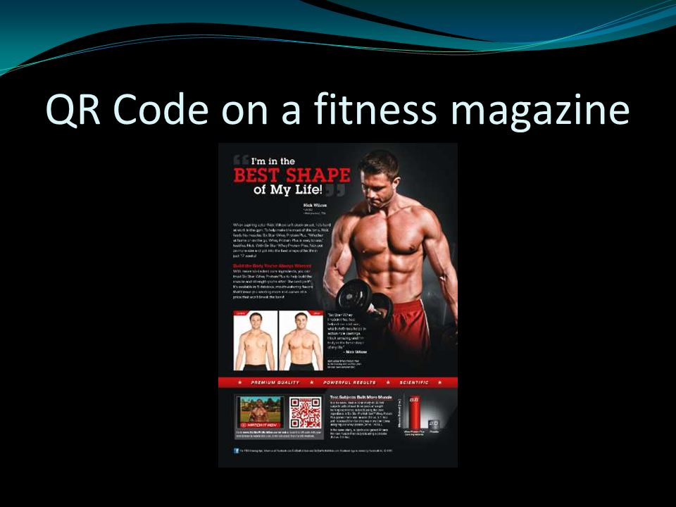 QR Code on a fitness magazine