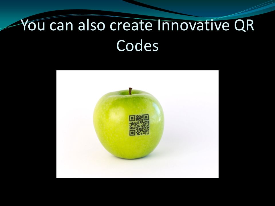 You can also create Innovative QR Codes