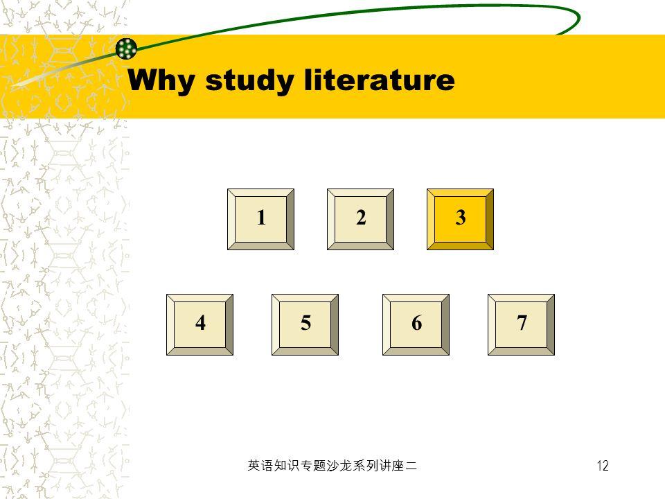 12 123 4567 Why study literature
