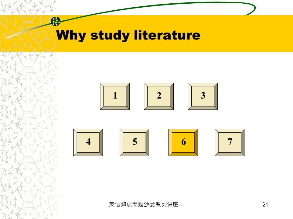 24 123 4567 Why study literature