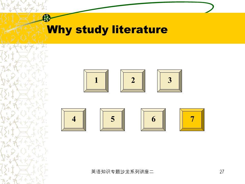 27 123 4567 Why study literature
