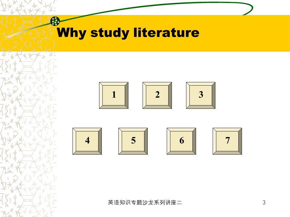 3 123 4567 Why study literature