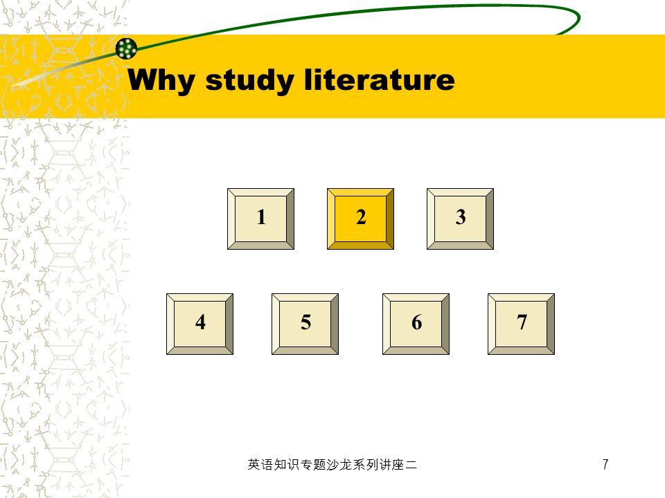 7 123 4567 Why study literature