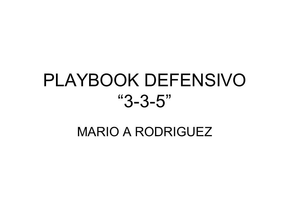 PLAYBOOK DEFENSIVO 3-3-5 MARIO A RODRIGUEZ