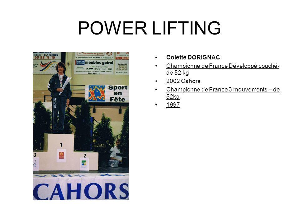 POWER LIFTING Jean Marie DELHOMME Champion de France par équipe 1988