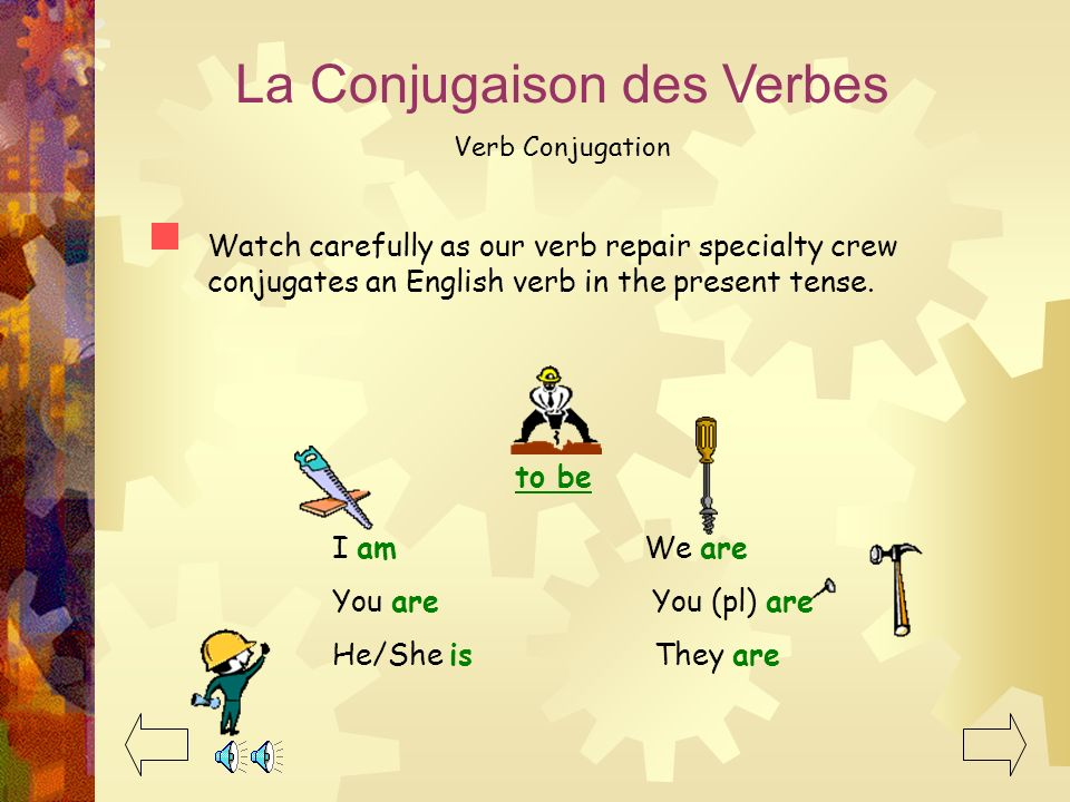 La Conjugaison des Verbes Verb Conjugation So what is conjugation? What does conjugate mean? In grammatical terms, its… Taking the regular form of the