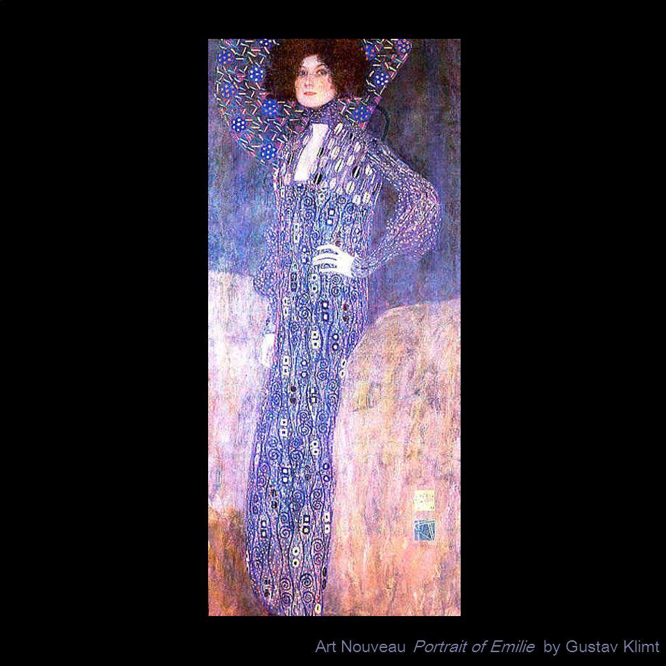 Art Nouveau Portrait of Emilie by Gustav Klimt