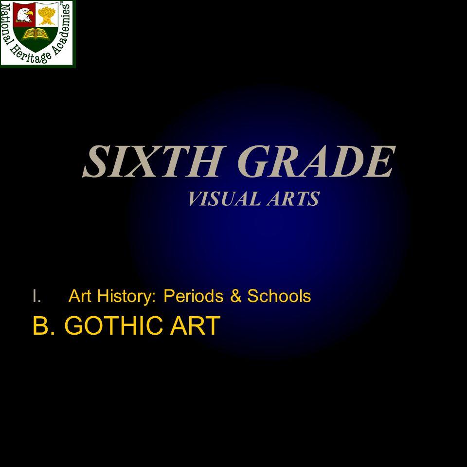 SIXTH GRADE VISUAL ARTS I.Art History: Periods & Schools B. GOTHIC ART