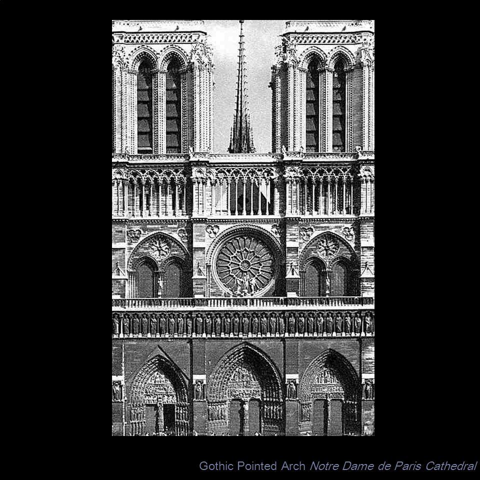 Gothic Pointed Arch Notre Dame de Paris Cathedral