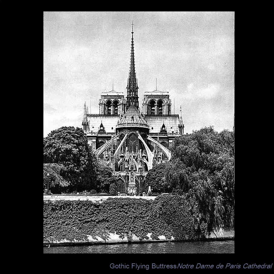 Gothic Flying ButtressNotre Dame de Paris Cathedral