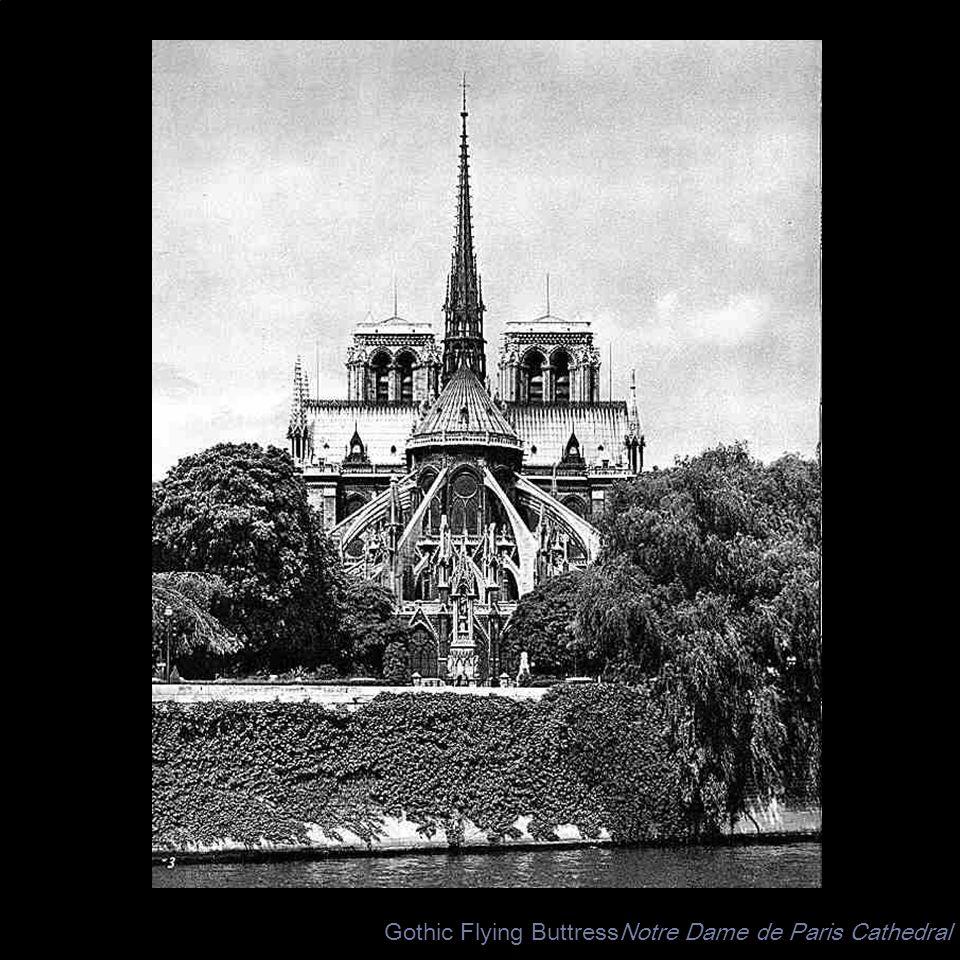 Gothic Flying ButtressNotre Dame de Paris Cathedral