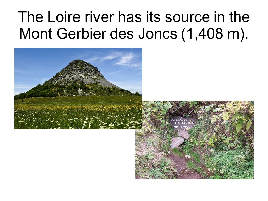 The Loire river has its source in the Mont Gerbier des Joncs (1,408 m).