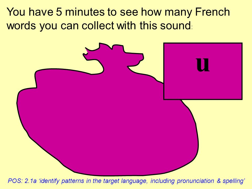 What sound links these French words? KS3 Framework 4.1 KAL Letters & sounds: apply knowledge of common letter strings, sound patterns, accents & other
