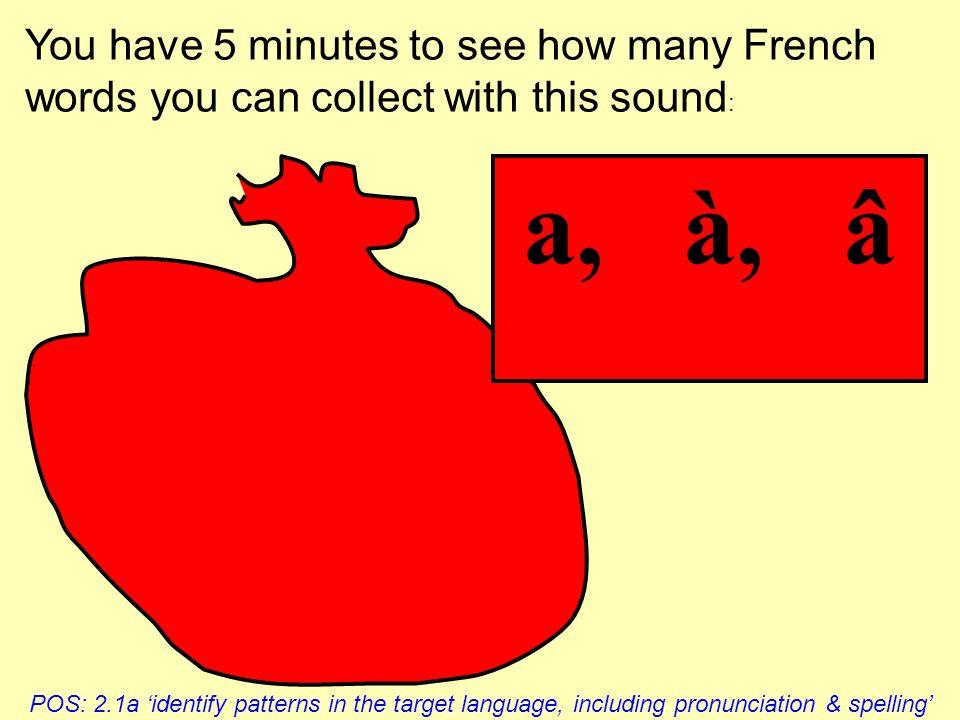 20 key phonemes in French Vowels a â à quatre chats é er ez et es ée mes frisés i ie it is oui Mimi Consonants u Lulu qu qui quelle o ô au eau beau do