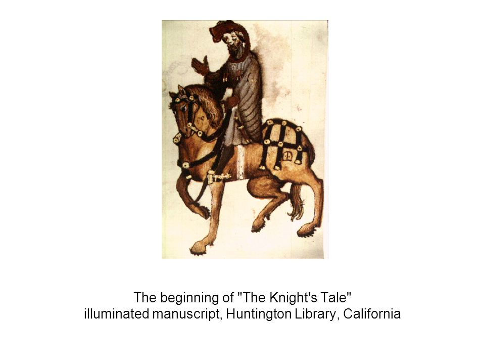 The beginning of The Knight s Tale illuminated manuscript, Huntington Library, California