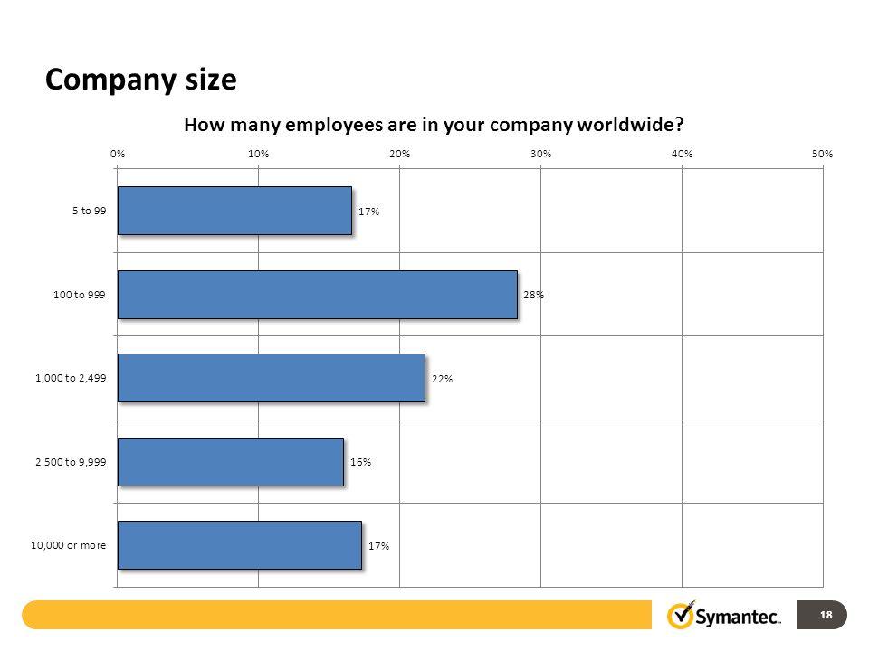 Company size 18