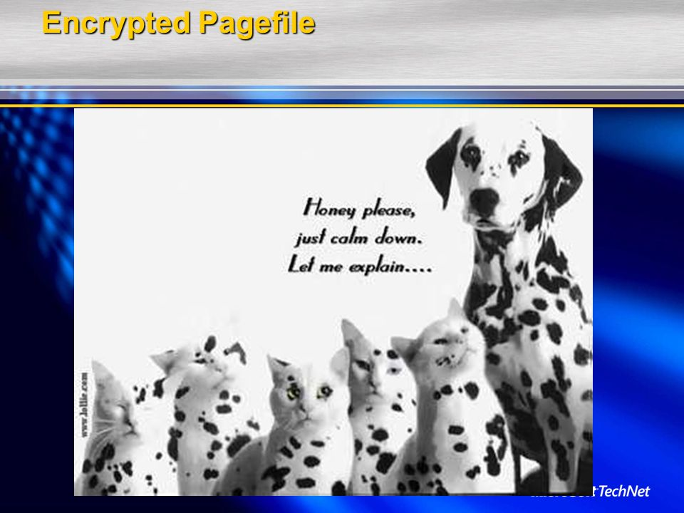 Encrypted Pagefile