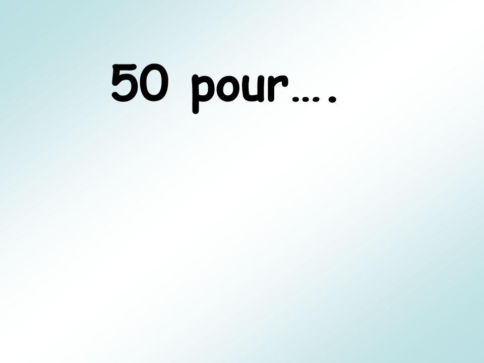 50 pour….