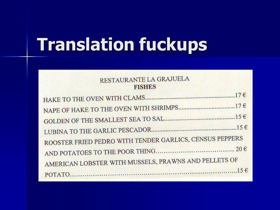 Translation fuckups