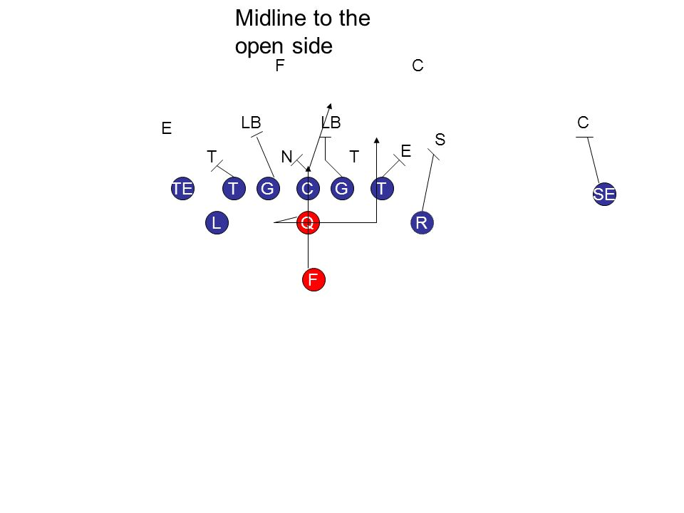 GGT L TE SE F RQ TC TTN E E LB F S C C Midline to the open side