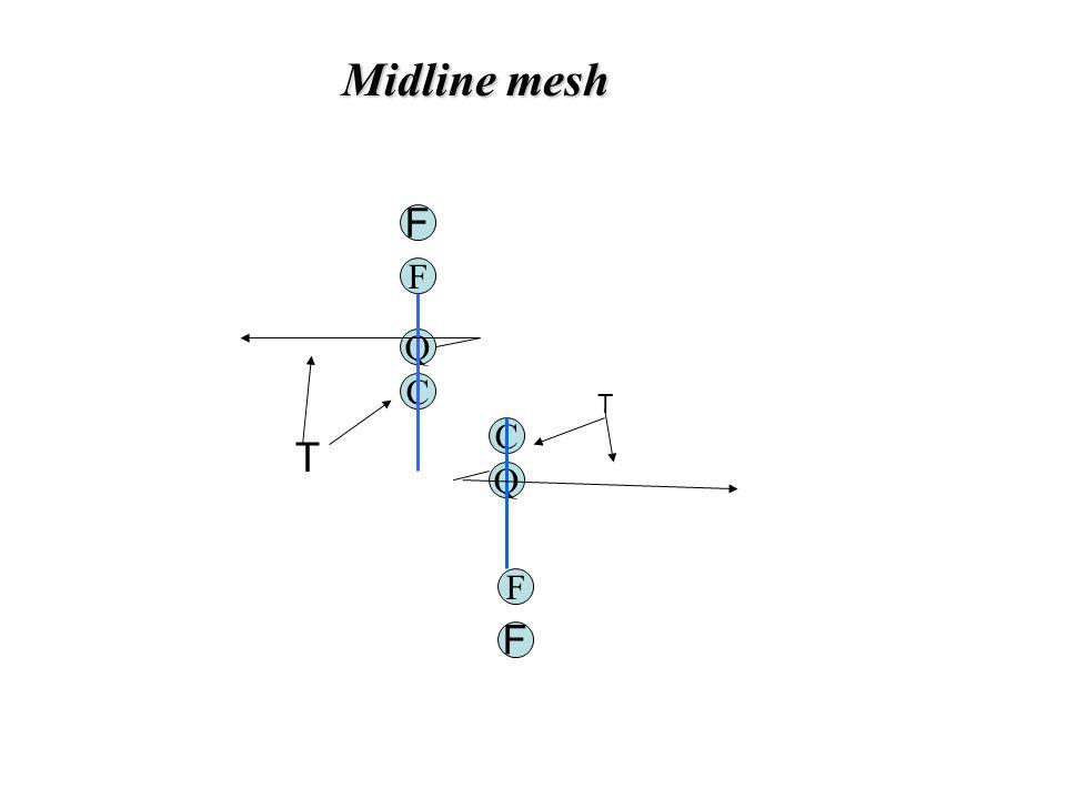 Midline mesh F Q C Q C F T T F F