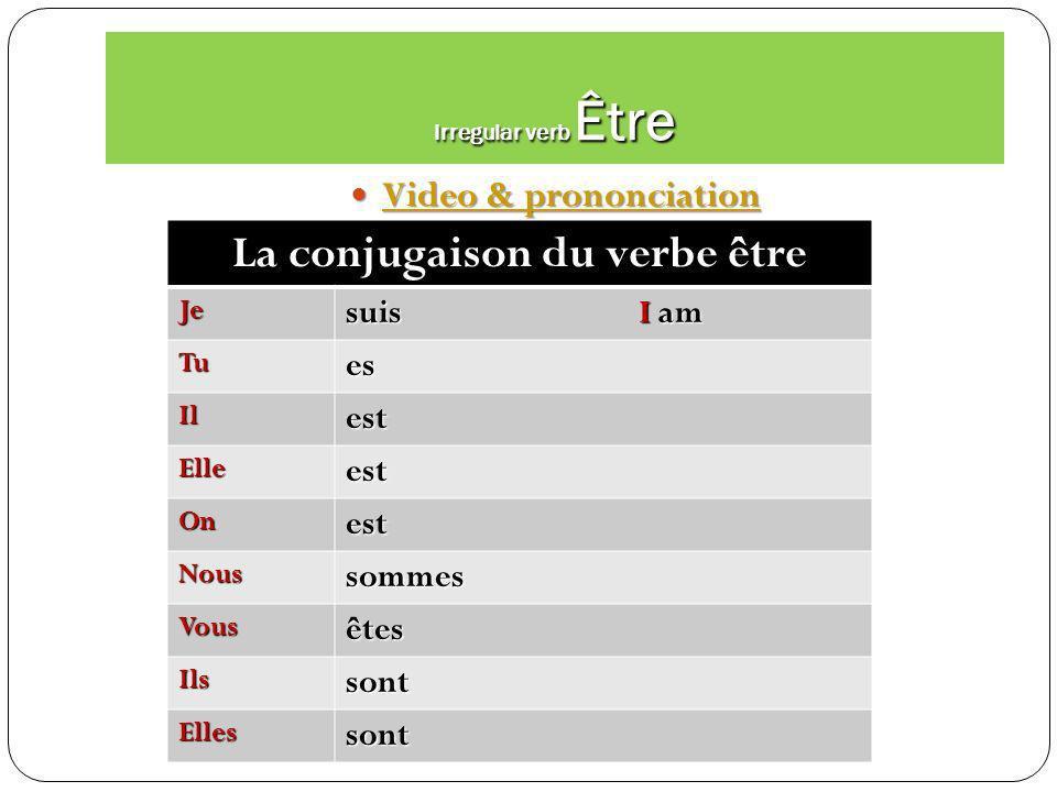 Irregular verb Faire video & prononciation Faire video & prononciation Faire video & prononciation Faire video & prononciation Faire Je fais Je fais T