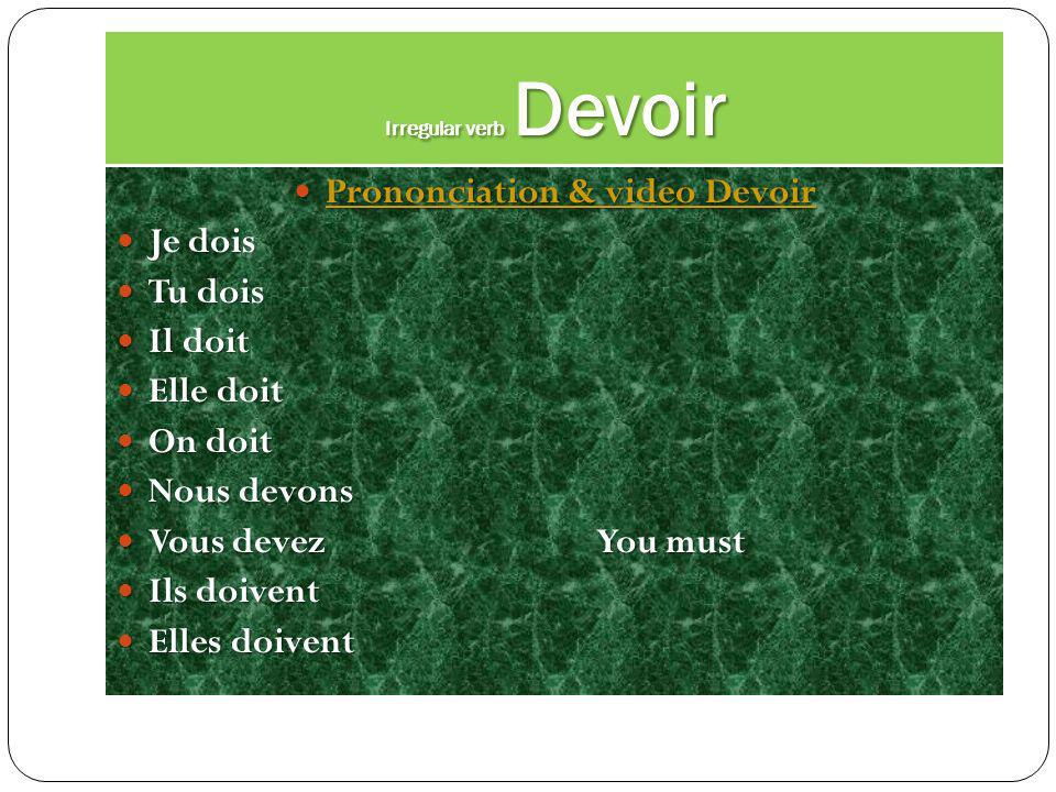 Irregular verb Pouvoir Prononciation & video Pouvoir Prononciation & video Pouvoir Prononciation & video Pouvoir Prononciation & video Pouvoir Je peux