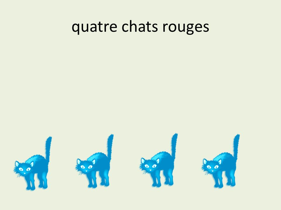 quatre chats rouges
